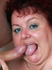 Fat mature Margaret and her fuck buddy start off with kinky foreplay and end up fucking
